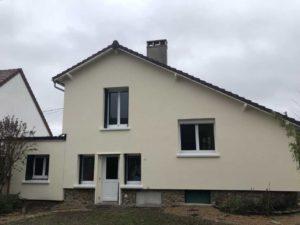 Chantier d'isolation thermique par l'extérieur à Conflans-Sainte-Honorine apres