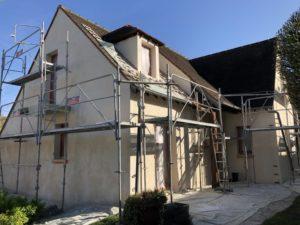 Ravalement d'une maison à Triel sur Seine 78 pendant
