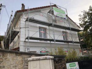 Restauration d'une maison ancienne des années 1930 à Conflans Saint Honorine 78 pendant